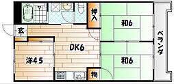 ベルガ中曽根[2階]の間取り