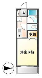 三恵ハイツ[4階]の間取り