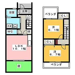 [テラスハウス] 愛知県名古屋市西区野南町 の賃貸【/】の間取り