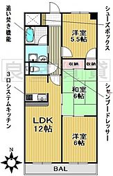 愛知県名古屋市千種区赤坂町1丁目の賃貸マンションの間取り