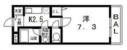 ベルドミール末広III番館[108号室号室]の間取り
