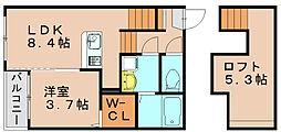 スピアーノ箱崎[1階]の間取り