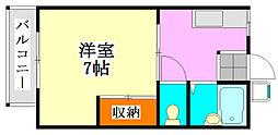 セルティ習志野[B202号室]の間取り