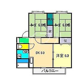 フローラル赤堤 D棟[1階]の間取り
