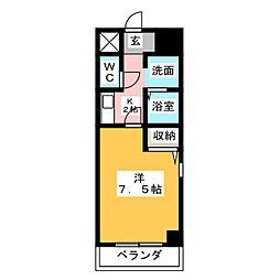 プレアール名古屋天白公園[7階]の間取り