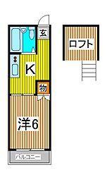 メゾン・ラテール[1階]の間取り