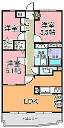 ベル・エポック21[205号室]の間取り