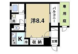 奈良県奈良市今小路町の賃貸マンションの間取り