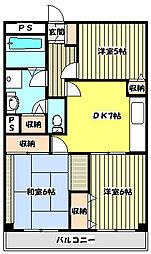 ハロッズプラザ[5階]の間取り
