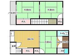 柏原市大県3丁目テラスハウス[2階]の間取り