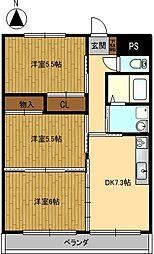 Grand Cha'teau III[302号室]の間取り