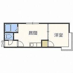 北海道札幌市中央区大通東8丁目の賃貸アパートの間取り