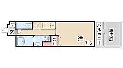 レジデンス神戸グルーブハーバーウエスト[1階]の間取り