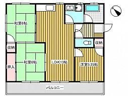 ハイツ和田[2階]の間取り