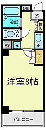 シーダー針中野[7階]の間取り