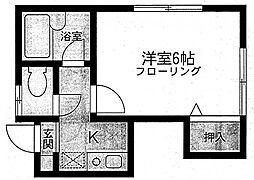 カルム旭[2階]の間取り