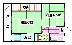 広島県広島市安芸区畑賀2丁目の賃貸マンションの間取り