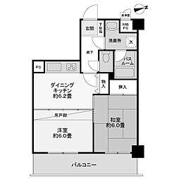 神奈川県相模原市中央区鹿沼台2丁目の賃貸マンションの間取り