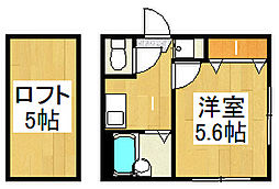 リーヴェルポート戸塚II[201号室]の間取り