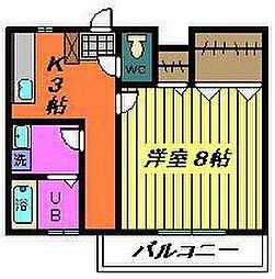 パールハイツB(稲毛)[207号室]の間取り