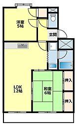 愛知県豊田市東梅坪町9丁目の賃貸アパートの間取り