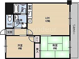 鶴見緑地道端マンション[2階]の間取り