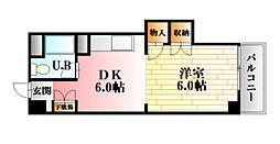 広島県広島市南区出汐4丁目の賃貸マンションの間取り