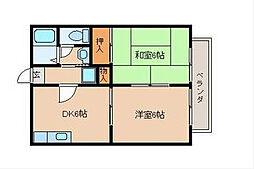 グリーンビレッジ湯川II[1階]の間取り