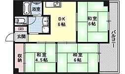 第二ロイヤルハイツ和田[205号室号室]の間取り
