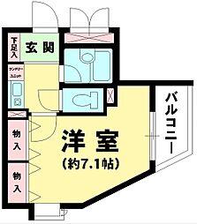 東京都八王子市大和田町7丁目の賃貸マンションの間取り