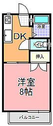 見川コーポ[201号室]の間取り