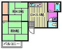 キャピタルD[2階]の間取り