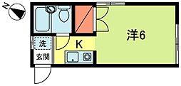 東京都西東京市東町3丁目の賃貸アパートの間取り