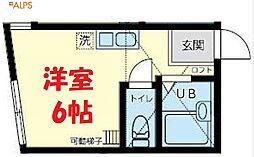 ユナイト横浜シーバーズストリート 2階ワンルームの間取り