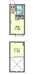 フェリーチェ生田[105号室]の間取り