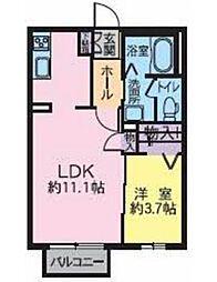 宮城県仙台市太白区砂押南町の賃貸アパートの間取り
