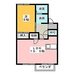 アメニティー563A棟[2階]の間取り