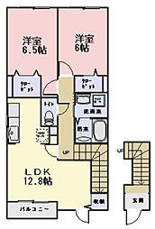ヴェルスクエアA棟[2階]の間取り