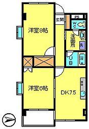 第5カネ長ビル[3階]の間取り