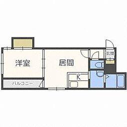 北海道札幌市東区北三十七条東1丁目の賃貸マンションの間取り