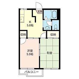 サン ウィンズ 浅井[2階]の間取り