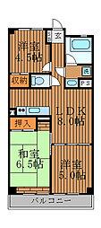 ユニオンマンション[5階]の間取り