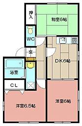コーポカンセイ[201号室]の間取り