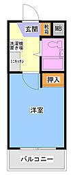 キャッスルマンション鶴間[3階]の間取り