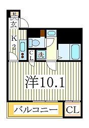 クレストタワー柏[10階]の間取り