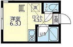 ユナイト和田町ハポニョールの杜[2階]の間取り