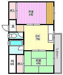 神田コーポ[1階]の間取り