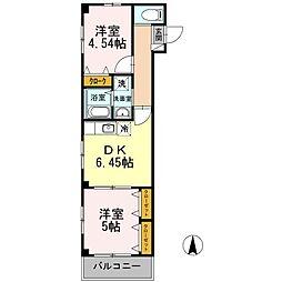オリーヴァ百道[1階]の間取り