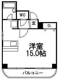 北海道札幌市白石区栄通7丁目の賃貸マンションの間取り