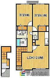 ブランミュールD[2階]の間取り